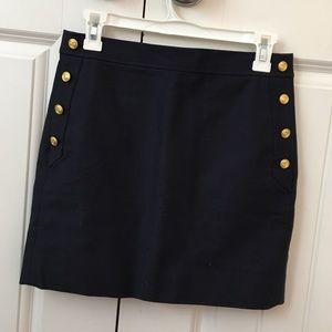 Navy blue j crew skirt